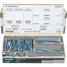 "5/16"" Full Thread Zinc Hex Bolt Assortment Kit"