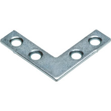 "1-1/2"" Zinc Flat Corner Iron Package Of 10"