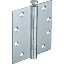 "4-1/2"" Commercial Ball Bearing Door Hinge Satin Chrome Stainless Steel Pkg/3"