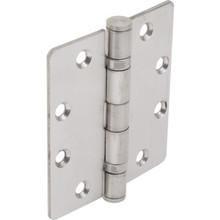 "4-1/2"" Commercial Ball Bearing Door Hinge Satin Steel, Package of 3"
