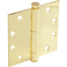 "4-1/2"" Commercial Plain Bearing Door Hinge Brass Package of 3"