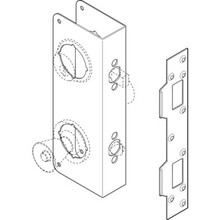 "Combination Deadbolt Door Repair Cover Stainless Steel For 2-3/8"" Backset"