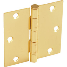 "3-1/2"" Residential Plain Bearing Door Hinge Satin Brass Package of 2"
