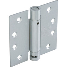 "4"" Residential Adjustable Spring Door Hinge Satin Chrome"