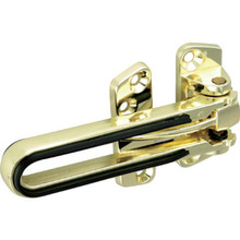 "2"" Slide Door Lock w/ Bumper Brass"