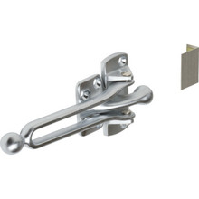 "2-1/16"" Door Slide Security Lock Satin Chrome"