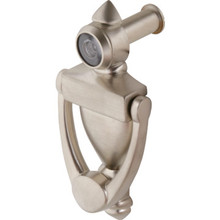 "3-1/2"" Door Knocker and 180 Degree Viewer Satin Nickel"