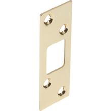 """1-1/4W x 3-5/8""""H Deadlock Strike Plate Brass, Package of 2"""