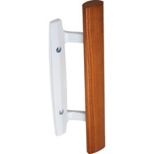 "3-15/16"" Surface Sliding Glass Door Handle White"