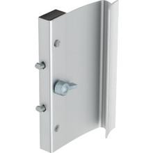 """3-7/8"""" Ador-Hilite Glass Door Handle Aluminum"""