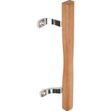 """6-5/8"""" Sliding Glass Door Handle Wood"""