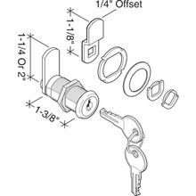 "1-3/8"" Cam Lock Keyed Different"