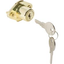 """7/8"""" Drawer Lock Brass Finish, Yale Y13 Keyway"""