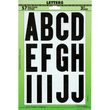 """3"""" Black On White Vinyl Packaged Letters"""