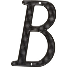"4"" Black Letter B Package Of 2"