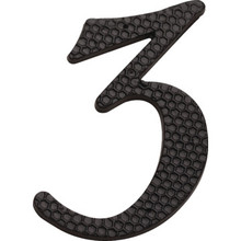 "4"" Black Number 3 Package Of 2"