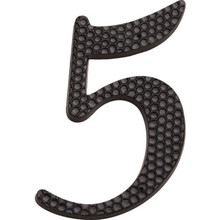 "4"" Black Number 5 Package Of 2"