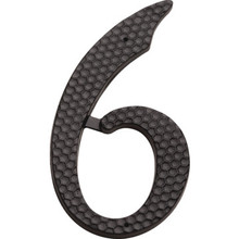 "4"" Black Number 6 Package Of 2"