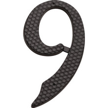 "4"" Black Number 9 Package Of 2"