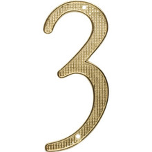 """4"""" Brass Number 2 Package Of 2"""