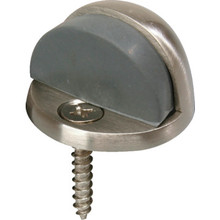 "Cast Brass Floor Door Stop 5/32"" Lip Satin Nickel"