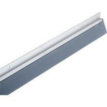 "36"" Reinforced Rubber Door Sweep Aluminum"