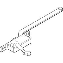 "9"" Left-Hand Square Casement Operator Bronze"