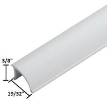 "3/8""W x 72""L x 19/32""H White Glazing Vinyl Window Bead Package of 25"