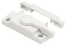 "2-1/8"" White Window Sash Lock Package of 2"