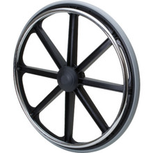 "Replacement Wheel 24""x1"" 8-Spoke 5/8"" Bearing Bariatric"