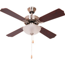 "42"" Dual-Mount Ceiling Fan Brushed Nickel Bowl Light Kit"