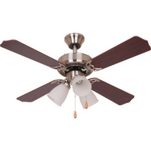"42"" Dual-Mount Ceiling Fan Brushed Nickel Ribbed Light Kit"