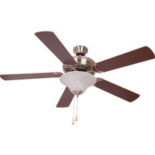 "52"" DUAL-MOUNT FAN W/ LIGHT KIT, BR.NKL"