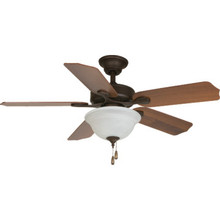 "Seasons 44"" Dual-Mount Ceiling Fan Bronze Bowl Light Kit"