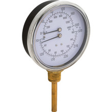 "2"" Dial 320F 200 PSI Temperature And Pressure Gauge"