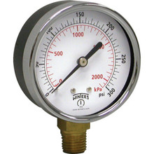 "Winters 4"" Dial 0-300 PSI Pressure Gauge With Bottom Mount"