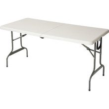 "Rectangle Fold N Roll Table 29Hx30Wx72""L Gray Speckled"