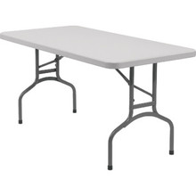 "Rectangle Folding Table 30Hx30Wx96""L Gray Speckled"