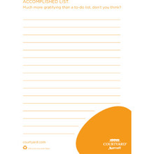 "Courtyard 4x5-1/2"" 8 Sheet Notepad Box Of 850"