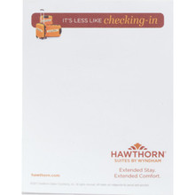 "Hawthorn Suites 4-1/4 x 5-1/2"" 16 Sheet Notepad, Case of 500"