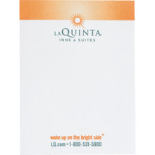 """La Quinta 3 x 4"""" 20 Sheet Notepad, Case of 400"""