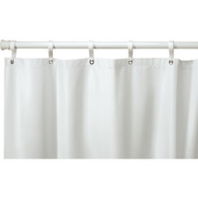 "Hooked 10 Gauge Vinyl Shower Curtain 72 x 72"" White Case Of 12"