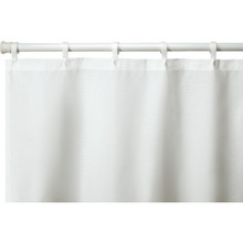 "Hooked Nylon Shower Curtain 72 x 72"" White Case Of 12"