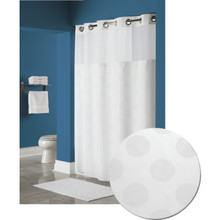 "Hookless Circle Shower Curtain 71 x 77"" White Case Of 12"