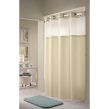 "Hookless Double H Shower Curtain 71 x 77"" Beige Package Of 12"