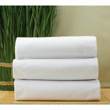 "Cotton Bay Essex T180 Flat Sheet Twin 66x104"" White Package Of 12"