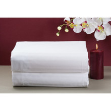 "Cotton Bay Canterfield Stripe T250 Pillowcase King 42x46"" White Case Of 24"