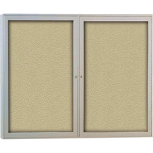 "Enclosed Aluminum Frame Bulletin Board 36H x 24""W"