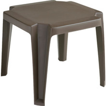 "Grosfillex Miami 17"" Square Low Table Bronze Mist, Package Of 6"
