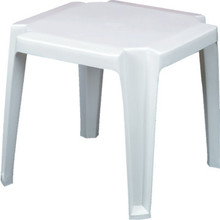 "Grosfillex Miami 17"" Square Low Table White, Package Of 6"